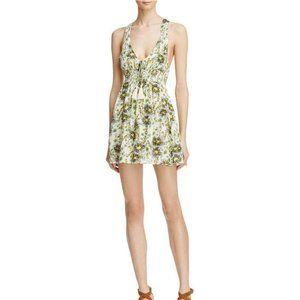 FREE PEOPLE Washed Ashore Floral Mini Dress - XS,L